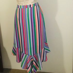 Multicolored stripe skirt PERFECT for Spring!